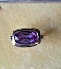 Color Change Russian Alexandrite Art-Deco Ring Sterling Silver Sz 7 REDUCED!!