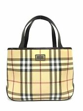 BURBERRY Handbag Tote Nova Check & Brown Leather Purse  C165