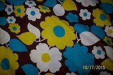 Vintage 1960s 1970s Flower Power Curtains RETRO COOL
