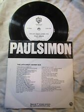 PAUL SIMON THE LATE GREAT JOHNNY ACE promo 45 only .....  pop '80's 45 rpm
