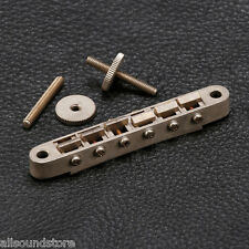 NEW Gotoh GE104B RELIC Tune-O-Matic Bridge - AGED NICKEL Tunematic ABR-1 Style
