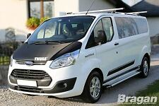 2013+ Ford Transit / Tourneo Custom LWB Polished Aluminium Side Running Boards