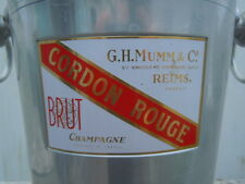 Seau à champagne Cordon Rouge G H Mumm & C° produce of France
