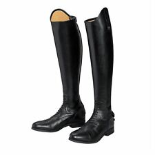 NEW ALBERTO FASCIANI SZ 8 JUPITER FIELD TALL BLACK LEATHER BOOTS EUR 38.5