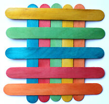 500 Lolly Craft Stick Wooden Coloured  Wood 150 x 19 mm