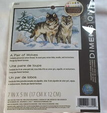 A Pairof Wolves Counted Cross Stitch Kit, Dimensions, Cross Stitch Gift