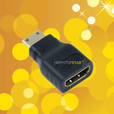 Mini HDMI Type C Male to HDMI Type A Female Adapter Connector HDTV Converter