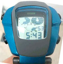 RARE VINTAGE CITIZEN INDEPENDENT DIGITAL WATCH GREEN BLUE UNISEX UNIQUE JAPAN