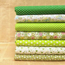 7pcs/Set Green Floral Patchwork Quilting Sweing Cloths Cotton Fabric DIY 25*25cm