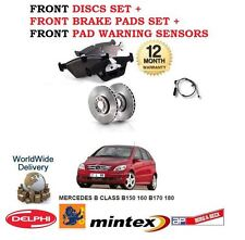 FOR MERCEDES B150  B170 2005--  FRONT BRAKE DISCS SET + PADS KIT + PAD SENSOR
