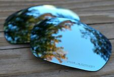 Polarized Powder Blue Mirrored Sunglass Lenses for Oakley Jawbone- Grey Tint
