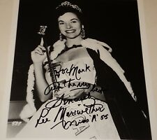 LEE MERIWETHER / MISS AMERICA 1955 /  8 X 10  B&W  AUTOGRAPHED  PHOTO