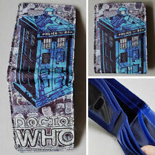 New BBC Doctor Who The telephone booth Logo Blue 12cm wallets Purse Leather W071