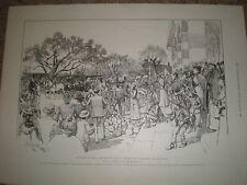La reine victoria à cimiez france la gourde fair 1899 old print