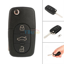 Folding Remote Key Case Shell Pad Entry Fob with Blade for Audi A4 A6 TT S4