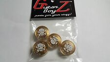 Guitar BoyZ™ Gibson Style Gold Speed Knobs with White Skull and Bones (4)