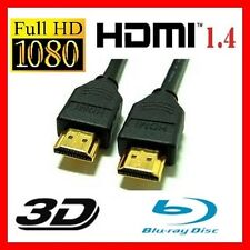 CABLE HDMI 1.4  1M 3D HIGH SPEED 1440P FULL HD PLAQUE OR NEUF PS3 XBOX WII U