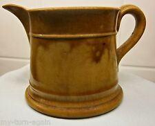Antique 1800's Yellow Ware Yellowware Pottery Stoneware Pitcher Jug Creamer RTF
