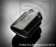 """RTP Exhaust Muffler Tip  Oval Angle Two Wall 2.25"""" Inlet 2.75x3.20"""" OD CLEARANCE"""