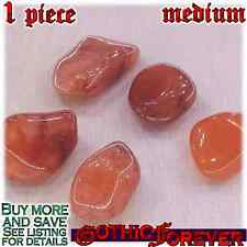 1 Medium 20mm Free Ship Tumbled Gem Stone Crystal Natural - Agate Carnelian