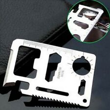 Multi Tool 11in1 Hunting Survival Camping Pocket Military Credit Card Knife YX
