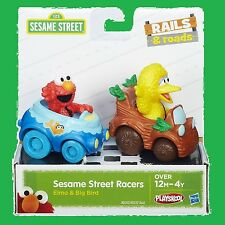 Big Bird and Elmo Action Figure Sesame Street Racers Vehicle Toy Playskool Toy