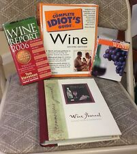 Lot of Wine Books, Complete Idiot's Guide to Wine 2nd Edition, Wine Journal AND