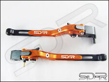 2000 - 2005 Ducati M900 / M1000 CNC Folding Adjustable Levers - Orange