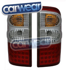 LED CLEAR RED TAIL LIGHTS SUITS NISSAN PATROL GU 4 GU 5 GU 6 GU 7 GU 8 98-03