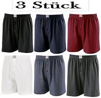 3 Stück ADAMO Boxershorts 3XL bis 8XL Übergröße Unterhose Unterwäsche Baumwolle
