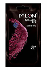 DYLON 50g HAND DYES FABRIC & CLOTHES DYE WASH ALL COLOURS