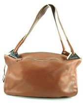 CROMIA Brown Soft Smooth Leather 3 Section Hobo  Satchel Made in Italy MSRP $500