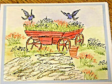 Farm Wagon RETIRED (U get photo # 2) L@@K art impressions rubber stamps RETIRED