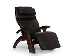 Espresso Premium Leather PC-600 Omni-Motion Human Touch Perfect Chair Recliner W