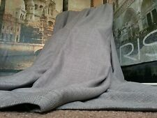 """New Huge Bespoke Linen Slate Grey EP102""""W113""""L Blackout Thermal Lined Curtains"""