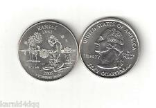 KANSAS NUDE SEXY BUSTY GIRL WOMAN LADY STATE QUARTER NOVELTY COIN TOKEN FLOWER