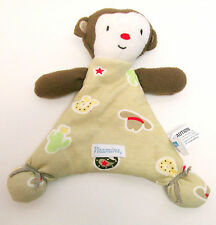 Vitamins Baby Monkey Lovey Blanket Buddy Security Toy - Cowboy Brown/Tan Fabric