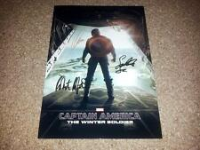 "CAPTAIN AMERICA 2: WINTER SOLDIER PP SIGNED PHOTO POSTER 12"" X 8"" A4 CHRIS EVANS"