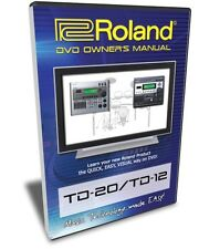 Roland TD-20 TD-12 DVD Training Tutorial Manual Help