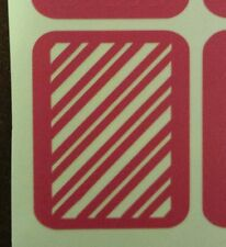 Candy Cane nail stencil vinyl decal stripes sticker