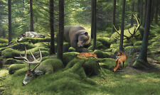 "Josh Keyes - The Sleeping Woods Limited Edition Numbered with COA 11"" x 9.5"""