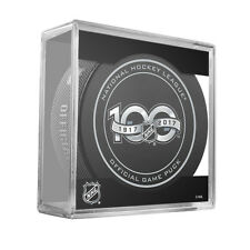 NHL Centennial Shield 100th Anniversary Game Hockey Puck With Cube