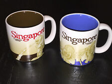 2x Singapore Starbucks 2009 Global Icon Collector Series 3oz Mug Cup Coffee Tea