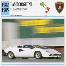 1982-1985 LAMBORGHINI COUNTACH LP500S Classic Car Photo/Info Maxi Card