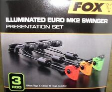 3 fox illuminated euro mk2 swinger rojo/amarillo/verde + pastillero-csi054