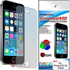3 Pellicole Per iPhone 5C 5S 5 Proteggi Salva Schermo Display LCD Pellicola