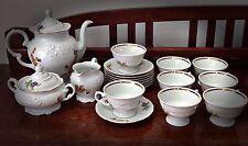 Royal Kent Tea Set Fruit Pattern Mint Condition - 8 Cups & Saucers