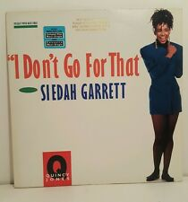 "Quincy Jones f Siedah Garret ""I Don't Go For That"" Vinyl Record 0-21594"