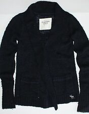 Abercrombie & Fitch Womens Thick Navy Blue Cardigan Sweater Size Small S