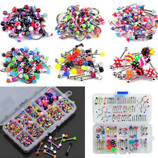 60x Wholesale Lots Mixed Lip Piercing Body Jewelry Barbell Rings Tongue Ring
